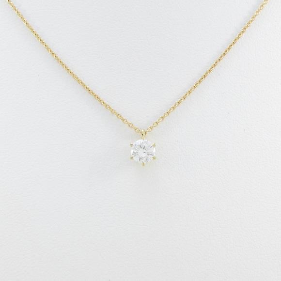 K18YG ダイヤモンドネックレス 0.296ct・H・SI1・GOOD【中古】 【店頭受取対応商品】