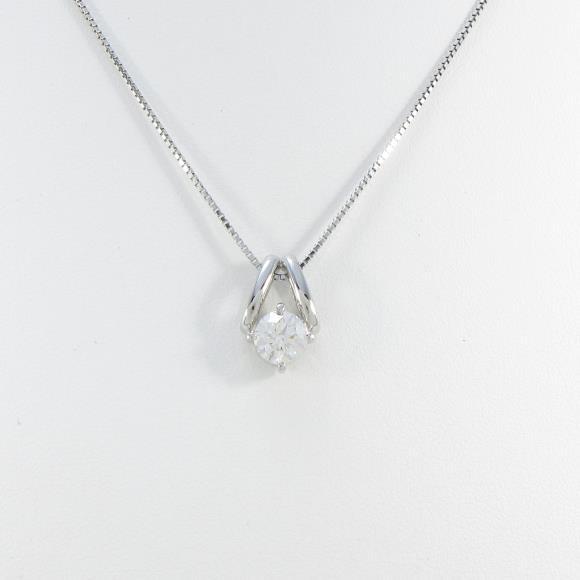 【新品】プラチナダイヤモンドネックレス 0.714ct・H・SI2・3EXT【新品】 【店頭受取対応商品】