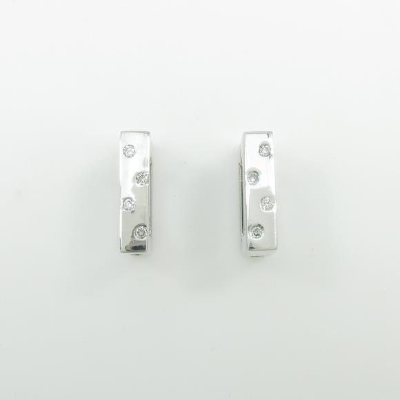 K14WG ダイヤモンドイヤリング【中古】 【店頭受取対応商品】