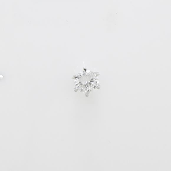【リメイク】プラチナダイヤモンドピアス 0.303ct・F・SI2・GOOD 片耳【中古】 【店頭受取対応商品】