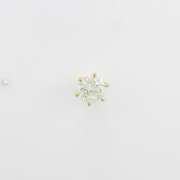 【リメイク】K18YG ダイヤモンドピアス 0.519ct・VLY・VS2・GOOD 片耳【中古】 【店頭受取対応商品】