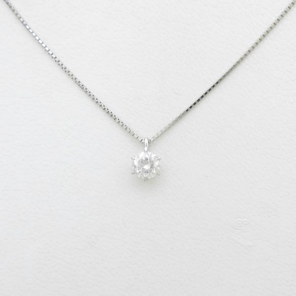 【リメイク】プラチナダイヤモンドネックレス 0.417ct・F・SI1・GOOD【中古】 【店頭受取対応商品】