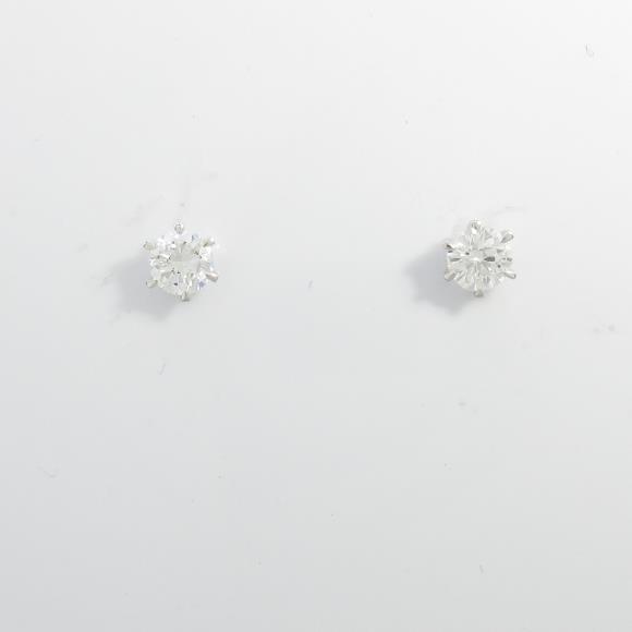 【リメイク】ST/プラチナダイヤモンドピアス 0.301ct・0.315ct・F・VS1・GOOD【中古】 【店頭受取対応商品】