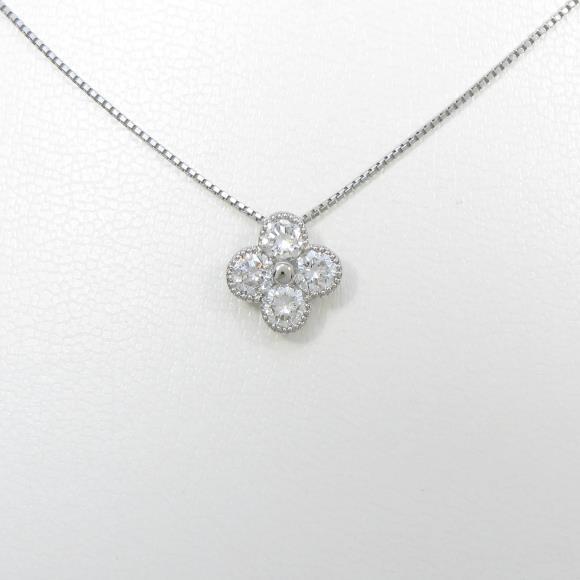 プラチナダイヤモンドネックレス 1.009ct・G・SI2・GOOD【新品】 【店頭受取対応商品】