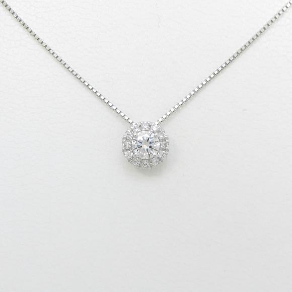 プラチナダイヤモンドネックレス 0.320ct・E・SI2・GOOD【新品】 【店頭受取対応商品】