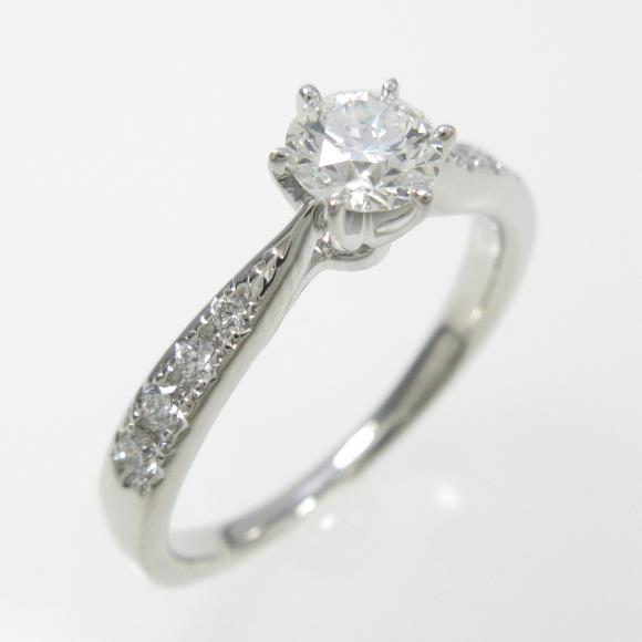 タサキ ダイヤモンドリング 0.32ct・H・VVS2・3EXT【中古】 【店頭受取対応商品】