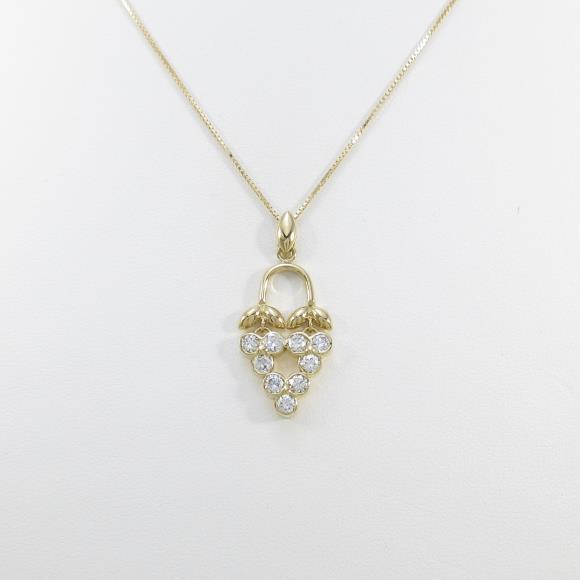 K18YG ダイヤモンドネックレス【中古】 【店頭受取対応商品】