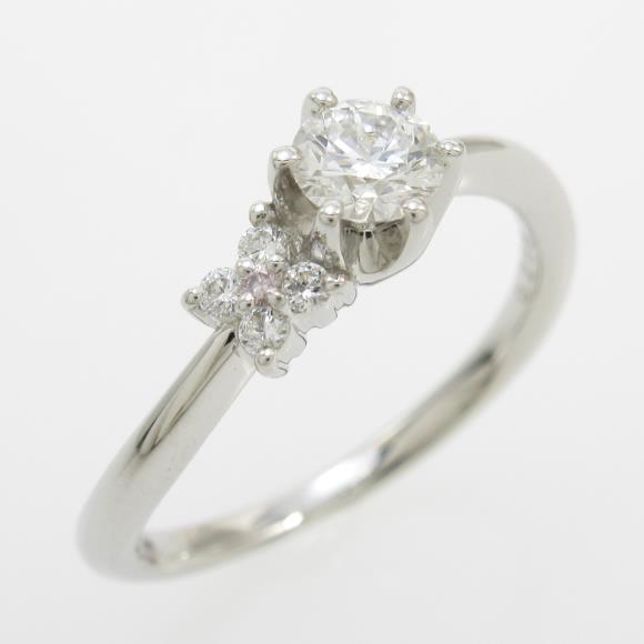 プラチナダイヤモンドリング 0.265ct・F・VVS2・EXTT H&C【中古】 【店頭受取対応商品】