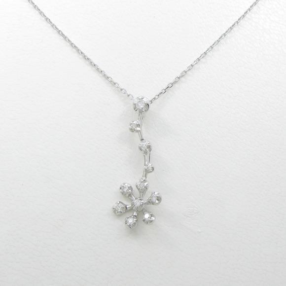 ヴァンドーム フラワー ダイヤモンドネックレス【中古】 【店頭受取対応商品】