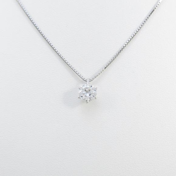 【リメイク】プラチナダイヤモンドネックレス 0.656ct・D・VVS2・GOOD【中古】 【店頭受取対応商品】