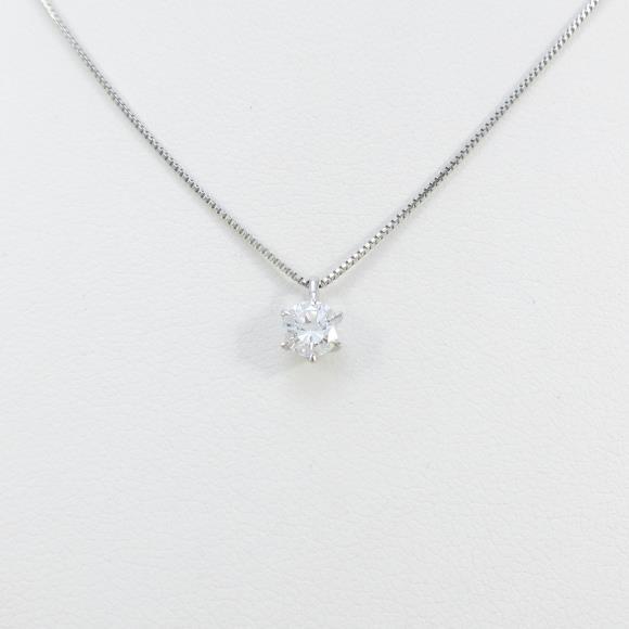 【リメイク】プラチナダイヤモンドネックレス 0.253ct・E・VS2・GOOD【中古】 【店頭受取対応商品】