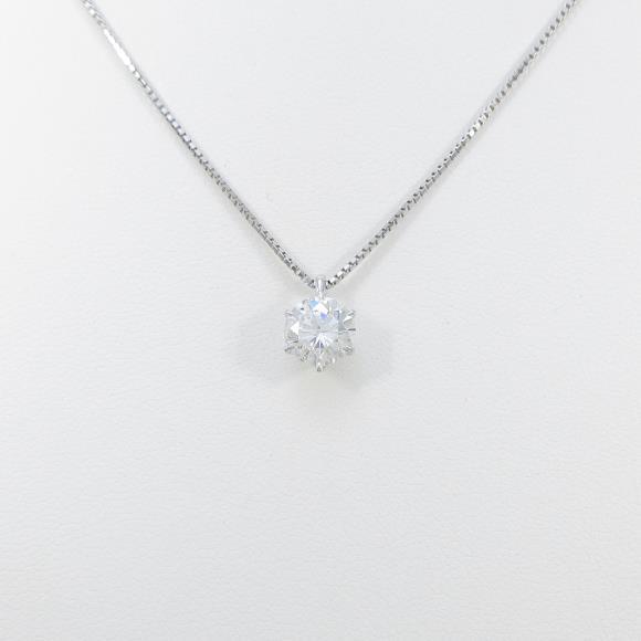 【リメイク】プラチナダイヤモンドネックレス 1.015ct・F・SI2・GOOD【中古】 【店頭受取対応商品】