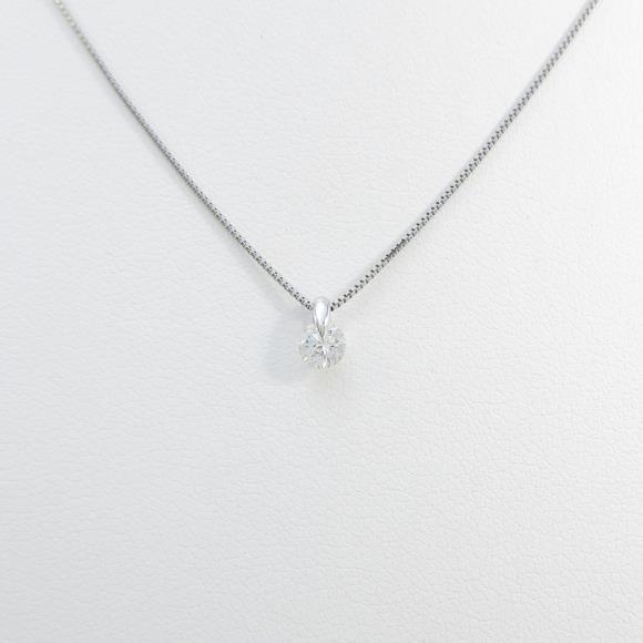 【リメイク】プラチナダイヤモンドネックレス 0.202ct・G・SI2・GOOD【中古】 【店頭受取対応商品】