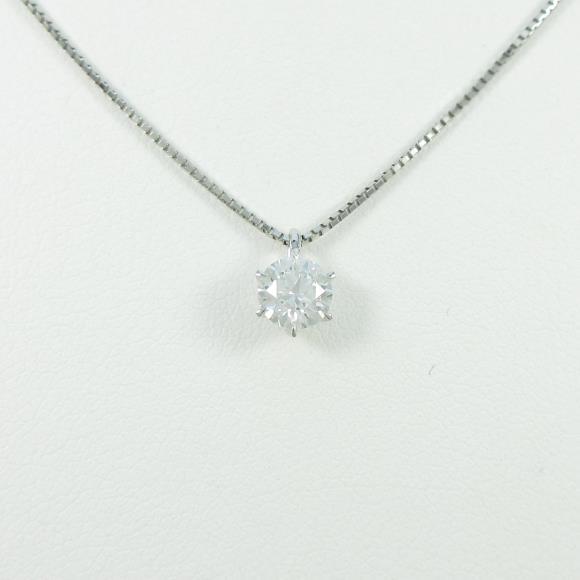 【リメイク】プラチナダイヤモンドネックレス 0.228ct・E・VS1・EXCELLENT【中古】 【店頭受取対応商品】