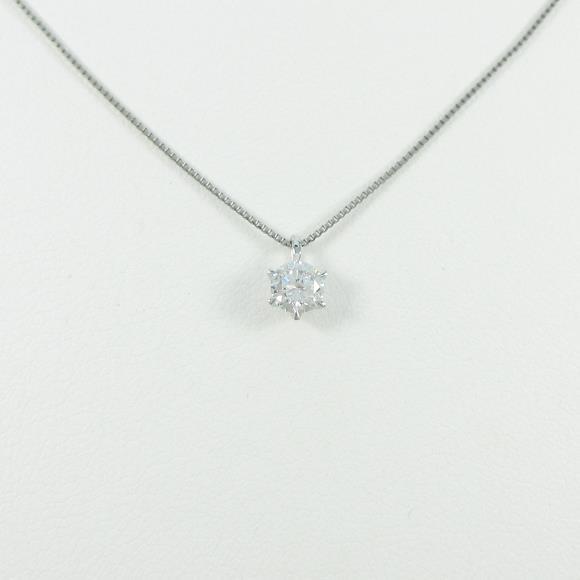 【リメイク】プラチナダイヤモンドネックレス 0.301ct・E・VS2・GOOD【中古】 【店頭受取対応商品】