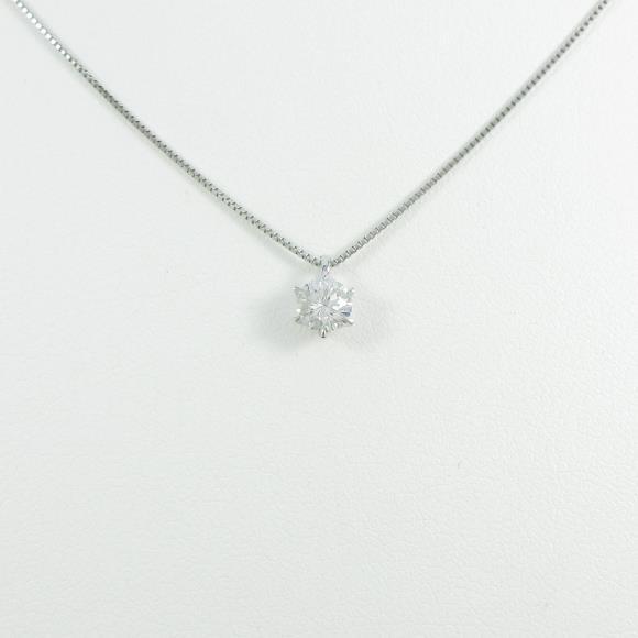 【リメイク】プラチナダイヤモンドネックレス 0.324ct・G・VS2・GOOD【中古】 【店頭受取対応商品】
