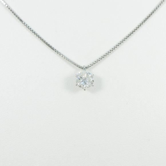 【リメイク】プラチナダイヤモンドネックレス 0.563ct・G・SI2・GOOD【中古】 【店頭受取対応商品】