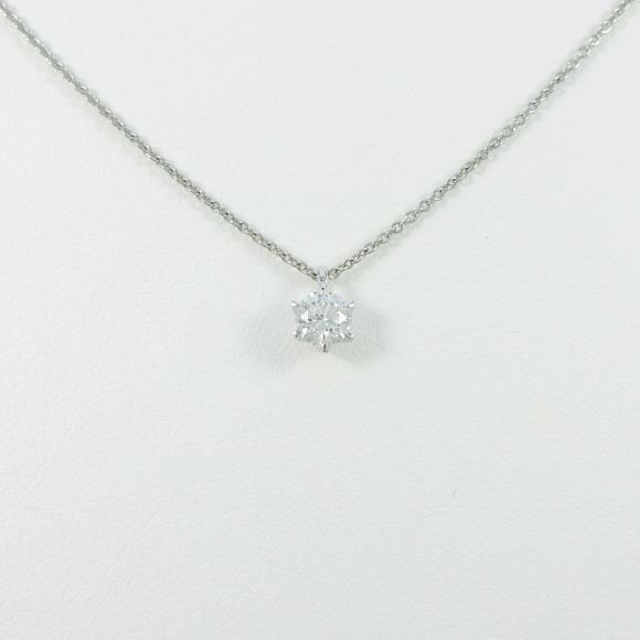 プラチナダイヤモンドネックレス 0.278ct・G・SI1・VERYGOOD【中古】 【店頭受取対応商品】