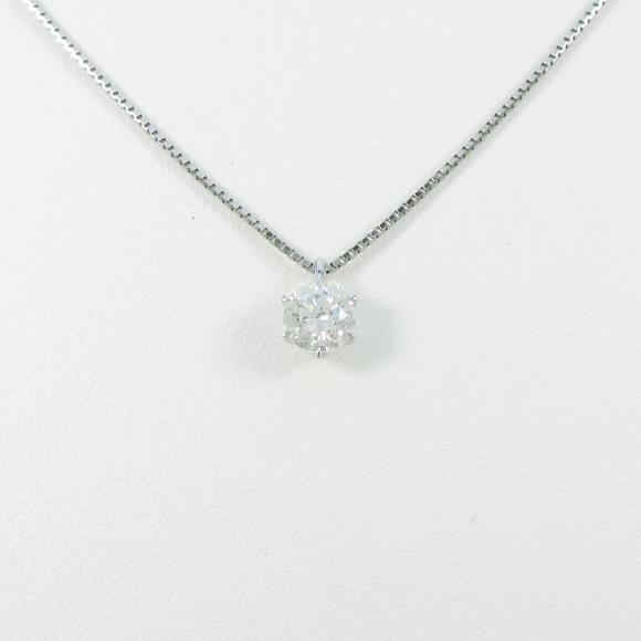 プラチナダイヤモンドネックレス 0.508ct・H・SI2・GOOD【中古】 【店頭受取対応商品】