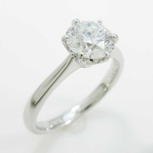 プラチナダイヤモンドリング 1.021ct・D・VVS1・VERYGOOD【中古】 【店頭受取対応商品】