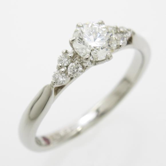 プラチナダイヤモンドリング 0.349ct・H・VS2・EXT H&C【中古】 【店頭受取対応商品】