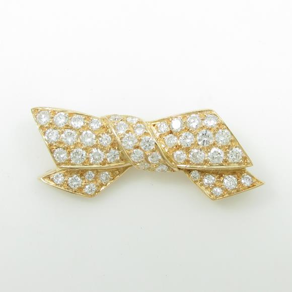 ヴァンクリーフ&アーペル リボン ダイヤモンドブローチ【中古】 【店頭受取対応商品】
