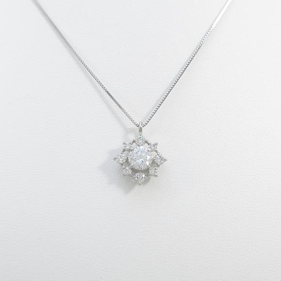 プラチナダイヤモンドネックレス 0.541ct・F・SI2・VERYGOOD【中古】 【店頭受取対応商品】