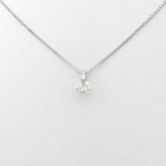 【新品】プラチナダイヤモンドネックレス 0.383ct・H・SI2・GOOD【新品】 【店頭受取対応商品】