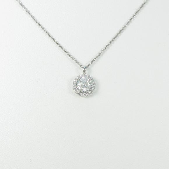 【リメイク】プラチナダイヤモンドネックレス 0.507ct・E・VS1・EXCELLENT【中古】 【店頭受取対応商品】