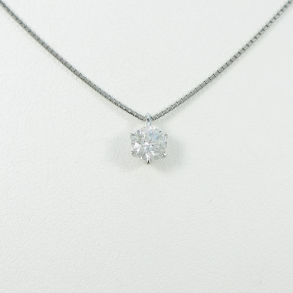 【リメイク】プラチナダイヤモンドネックレス 0.423ct・D・VVS1・EXCELLENT【中古】 【店頭受取対応商品】