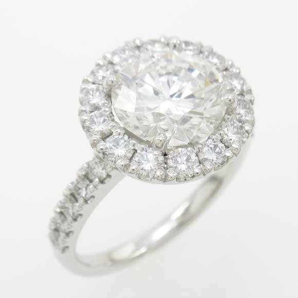 【リメイク】プラチナダイヤモンドリング 2.027ct・G・VVS2・VERYGOOD【中古】 【店頭受取対応商品】