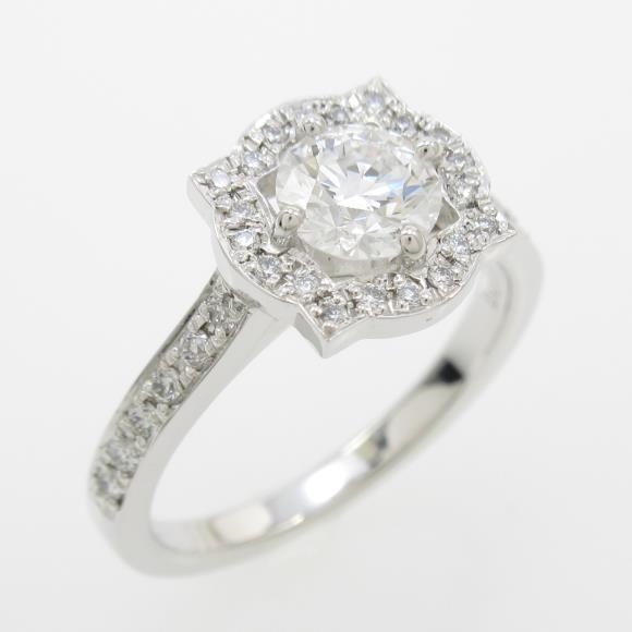 【リメイク】プラチナダイヤモンドリング 0.535ct・E・VS2・EXCELLENT【中古】 【店頭受取対応商品】