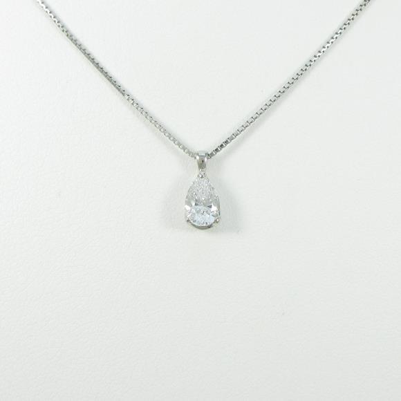 プラチナダイヤモンドネックレス 0.717ct・D・SI1・ペアシェイプ【中古】 【店頭受取対応商品】