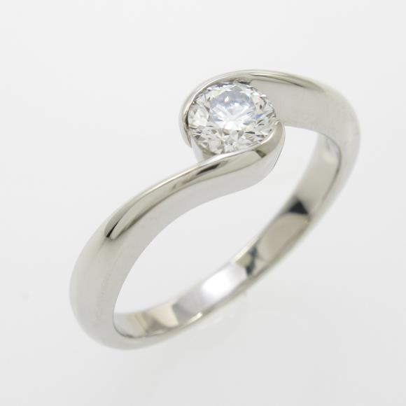 プラチナダイヤモンドリング 0.314ct・F・VS2・3EXCELLENT H&C【中古】 【店頭受取対応商品】