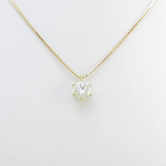 【リメイク】K18YG ダイヤモンドネックレス 1.040ct・M・SI2・GOOD【中古】 【店頭受取対応商品】