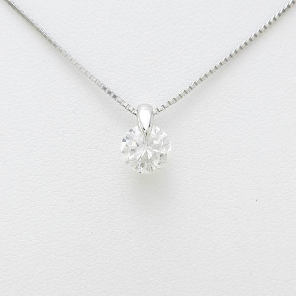 【リメイク】プラチナダイヤモンドネックレス 1.071ct・G・SI2・GOOD【中古】 【店頭受取対応商品】