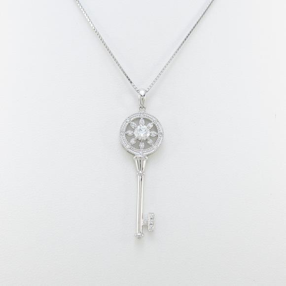 【新品】プラチナダイヤモンドネックレス 0.285ct・F・SI2・GOOD【新品】 【店頭受取対応商品】