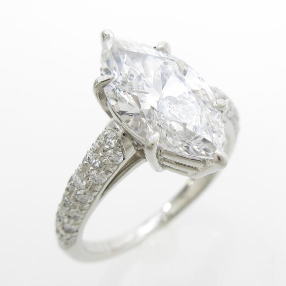 プラチナダイヤモンドリング ダイヤモンドリング 2.239ct・D・SI2・マーキスカット【中古】 【店頭受取対応商品】