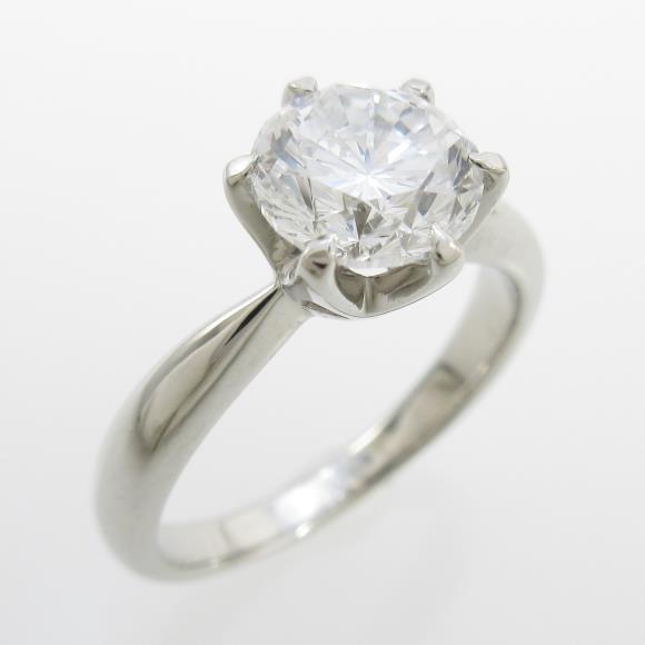 プラチナダイヤモンドリング 1.518ct・F・VS1・GOOD【中古】 【店頭受取対応商品】