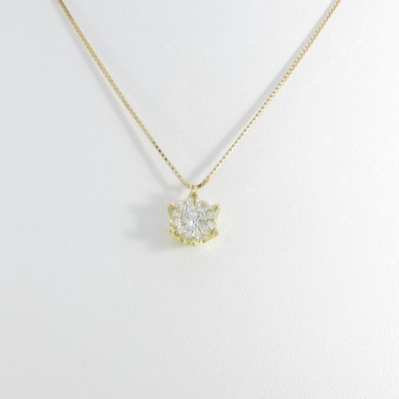 【新品】K18YG ダイヤモンドネックレス 0.296ct・H・SI2・GOOD【新品】 【店頭受取対応商品】