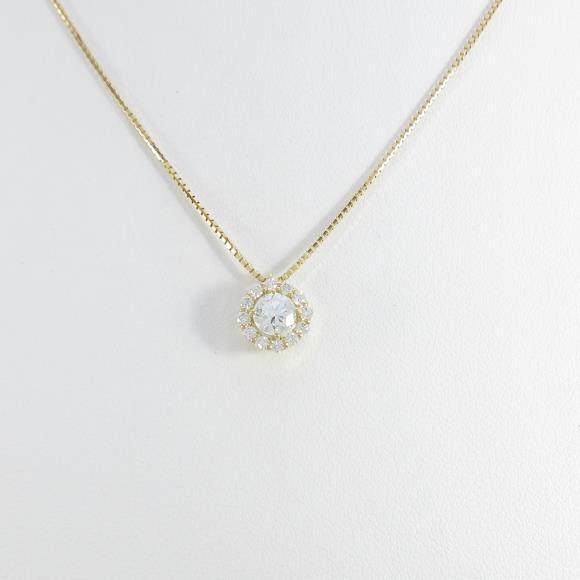 【新品】K18Yg ダイヤモンドネックレス 0.282ct・G・SI2・GOOD【新品】 【店頭受取対応商品】