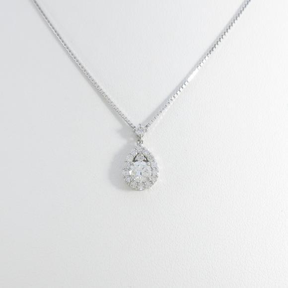 【新品】プラチナダイヤモンドネックレス 0.308ct・G・SI2・VERYGOOD【新品】 【店頭受取対応商品】