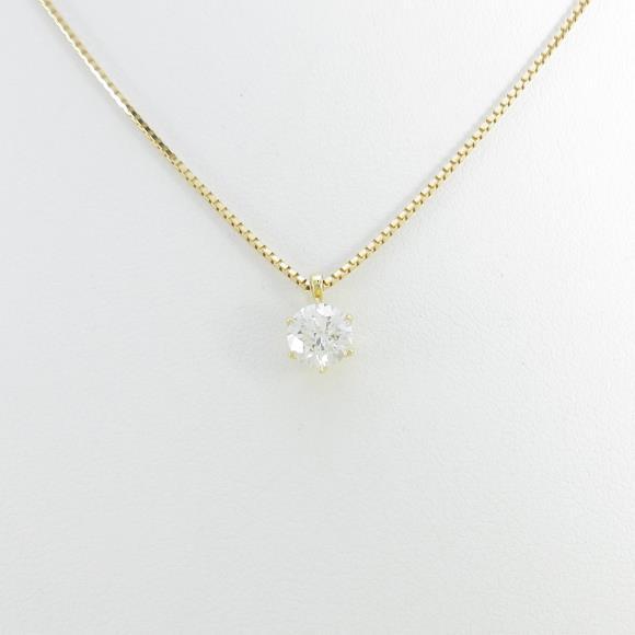 【新品】K18YG ダイヤモンドネックレス 0.520ct・H・SI2・VERYGOOD【新品】 【店頭受取対応商品】