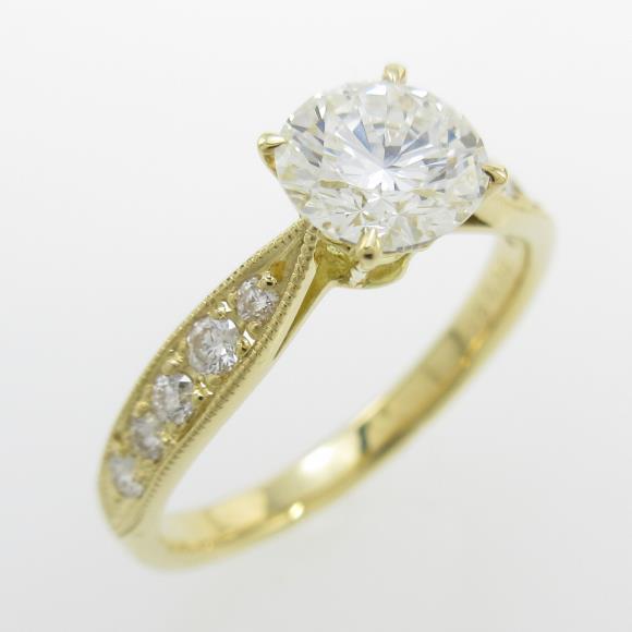 【リメイク】K18YG ダイヤモンドリング 0.808ct・H・VS1・VERYGOOD【中古】 【店頭受取対応商品】