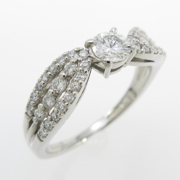 プラチナダイヤモンドリング 0.225ct・E・VS1・GOOD【中古】 【店頭受取対応商品】