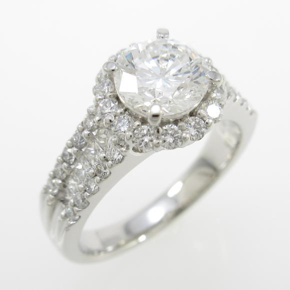 プラチナダイヤモンドリング 1.013ct・E・VVS2・VERYGOOD【中古】 【店頭受取対応商品】