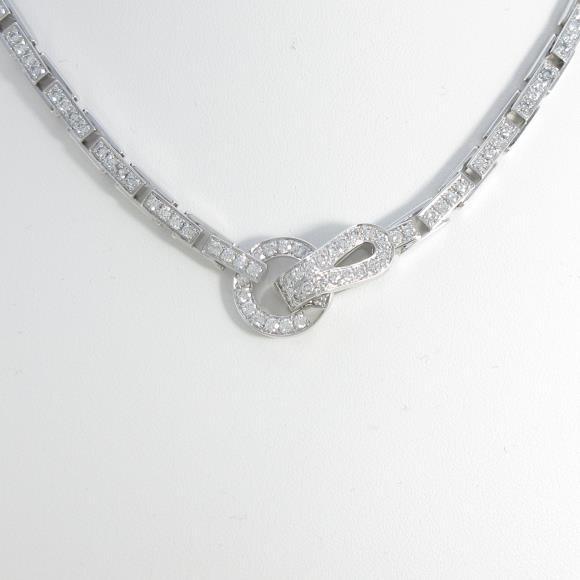 カルティエ アグラフ フルダイヤ ネックレス【中古】 【店頭受取対応商品】