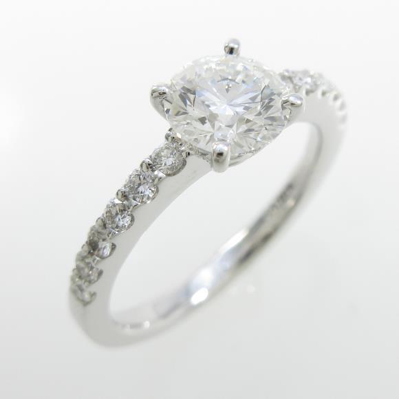 【リメイク】プラチナダイヤモンドリング 0.831ct・G・VS1・EXT【中古】 【店頭受取対応商品】