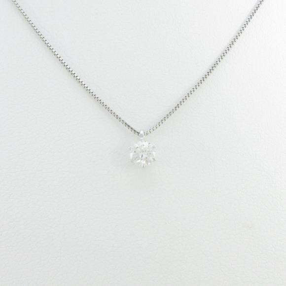 【リメイク】プラチナダイヤモンドネックレス 0.235ct・G・VS1・EXT【中古】 【店頭受取対応商品】