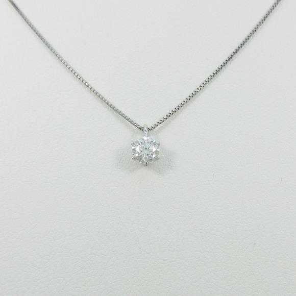 【リメイク】プラチナダイヤモンドネックレス 0.317ct・F・VS1・GOOD【中古】 【店頭受取対応商品】